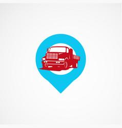 Truck point logo template designs vector
