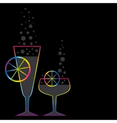 Two coctails vector