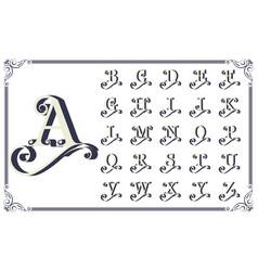 vintage decorative font vector image