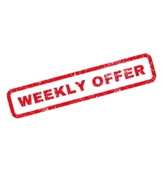 Weekly Offer Rubber Stamp vector
