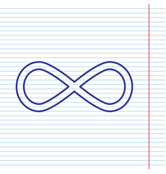 limitless symbol navy line vector image vector image
