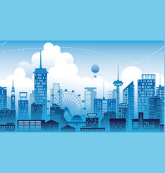 Panorama of the city a metropolis seamless vector