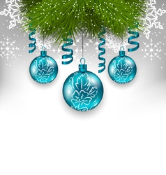 Christmas background with traditional adornment vector