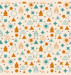 ethnic geometric seamless pattern tribal vector image vector image