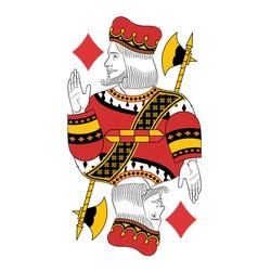 King of Diamonds vector image vector image