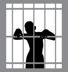 man in jail vector image