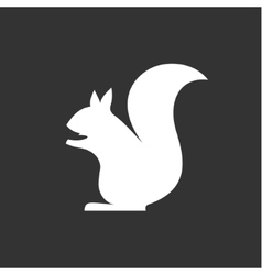 squirrel sits in monochrome minimalism vector image vector image