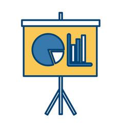 statistics presentation board vector image vector image
