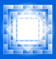 Abstract blue geometric square seamless pattern vector