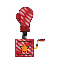 boxing glove surprise joke vector image