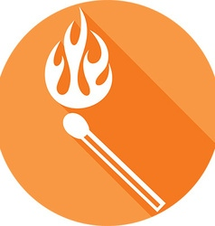 Burning Match Icon vector image vector image