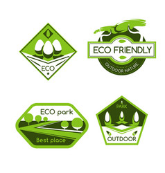 eco city park label for ecology and nature design vector image vector image