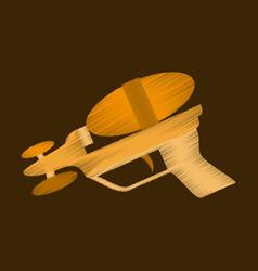 Flat shading style icon toy gun vector