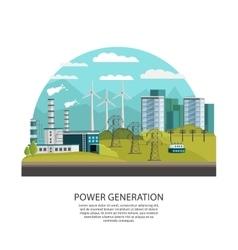 Power generation concept vector