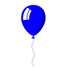 blue balloon on white background vector image