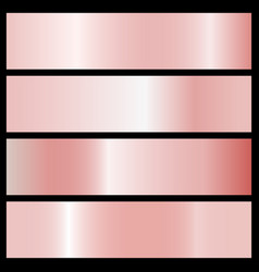 collection of pink gradients vector image vector image