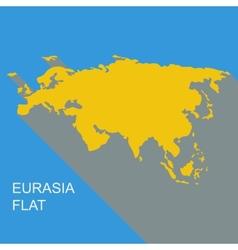 eurasia flat vector image vector image