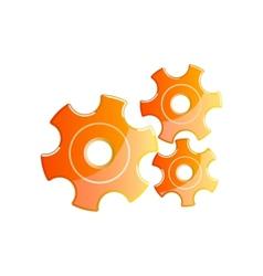 orange gears vector image