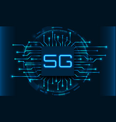 5g new wireless internet wi-fi connection circuit vector
