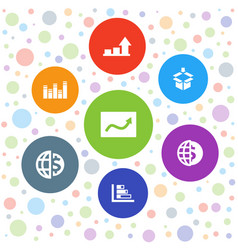 7 stock icons vector