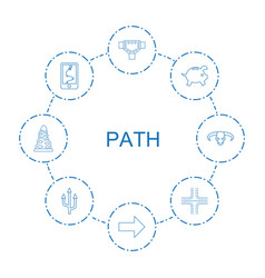 8 path icons vector