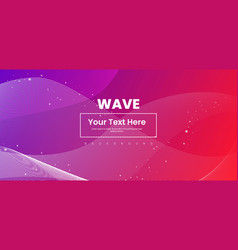 abstract wave line colorful background vector image