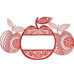 Apple Ornamental Pattern Background vector image