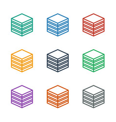 Archive icon white background vector