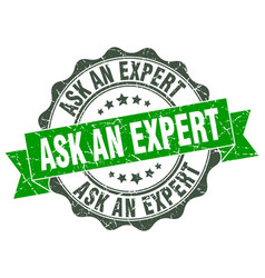 Ask an expert stamp sign seal vector