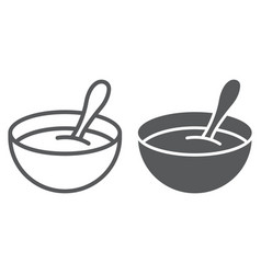 Baby cereal line and glyph icon food and eat vector