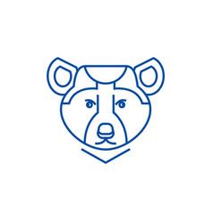 bear line icon concept bear vector image