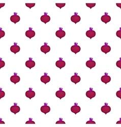 Beetroot pattern cartoon style vector