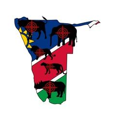 Big Five Namibia cross lines vector image