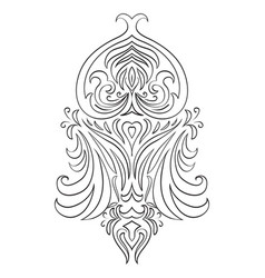 Black and white vintage tracery vector