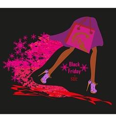 Black Friday card vector