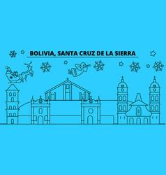 Bolivia santa cruz de la sierra winter holidays vector