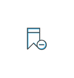 bookmark icon design interaction icon line vector image