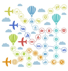 Business the plane vector