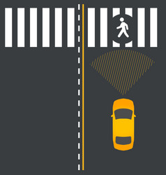car safety technology vector image