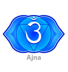 chakra ajna isolated on white vector image