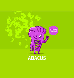 character of the abacus vector image