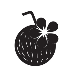 Coconut cocktail icon simple style vector image