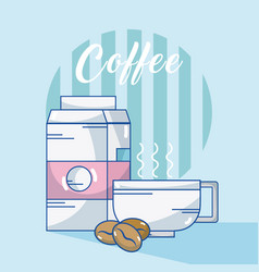 coffee drink concept vector image