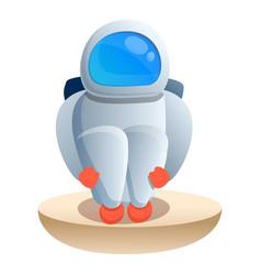 Cold spaceman icon cartoon style vector