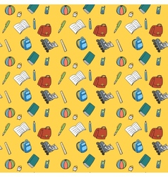 Colorful Textile School Pattern vector image