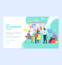 Cozy coworking center hipster animals working vector