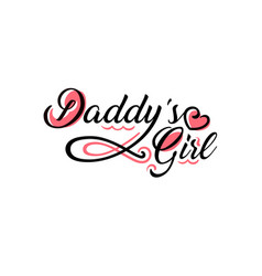 daddys girl tattoo vector image