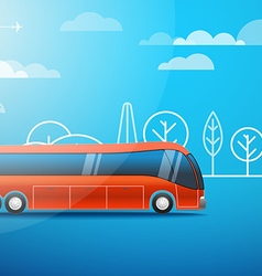 Different color city bus vector