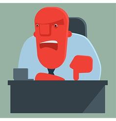 Dissatisfied boss warns someone vector