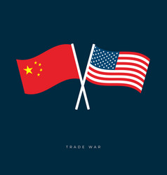 flags united states america and china vector image